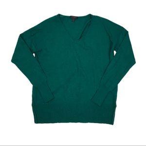 J. Crew Long Sleeve Wool V-Neck Swing Sweater